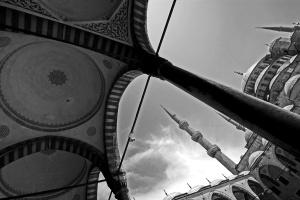 Istanbul_BlaueMoscheeschwarzweiß